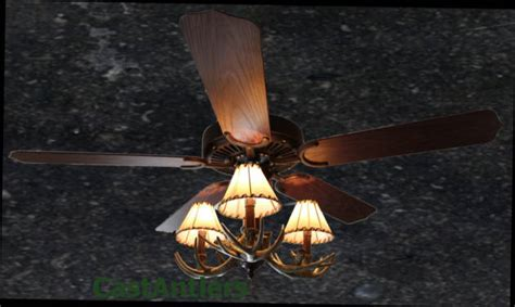 antler chandelier ceiling fan standard size fans rustic ceiling fan 52 quot 3 light