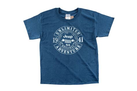 Jeep Garments Jeep Clothing Jeep 174 Banner Circle Shirt In Blue Dusk