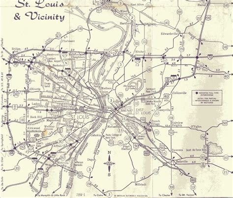 map of st louis st louis maps page