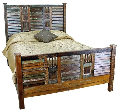 Rustic Bed by Mexicali Rustic Wood Bed Set Furniture Mexican Rustic