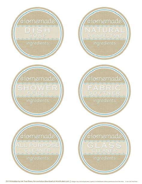 printable homemade stickers diy homemade clean free label printables and recipes