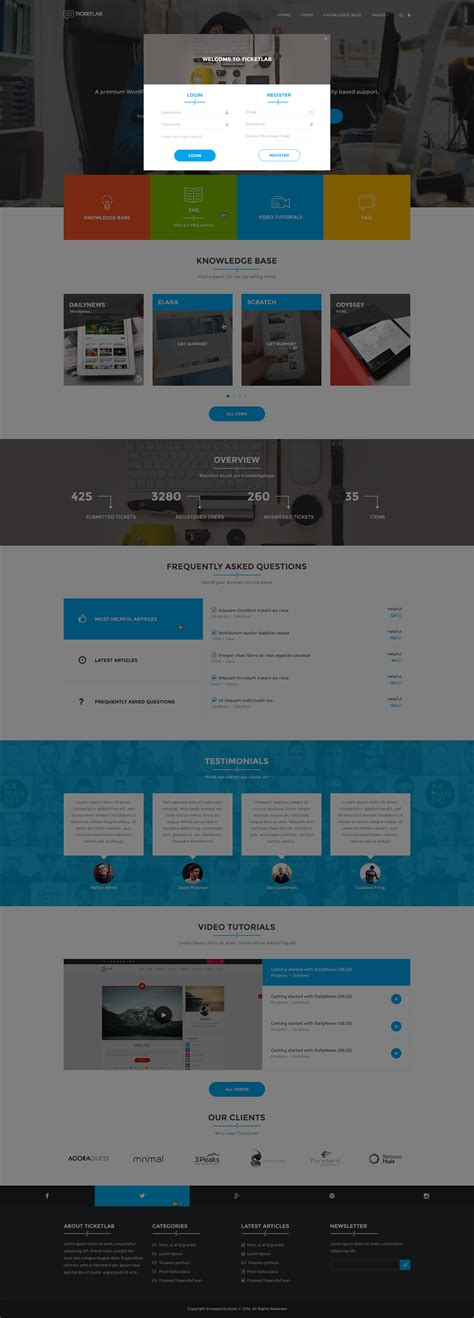 avada theme knowledge base ticketlab knowledge base ticketing support wordpress