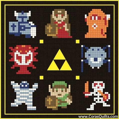 zelda quilt pattern legend of zelda free quilt along and block of the month