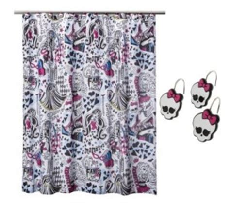 monster high shower curtain monster high shower curtain cool stuff to buy and collect
