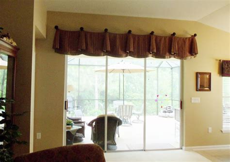 window valances above sliding doors enchanting window