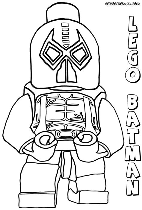 lego batman coloring pages bane www pixshark com