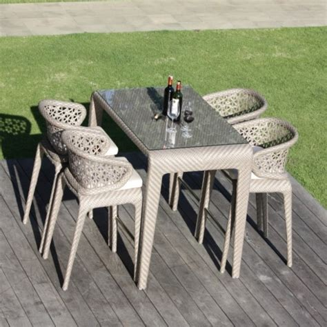 Outdoor Bar Stools And Table Set by Skyline Design Journey Rattan Outdoor Bar Stools And Table