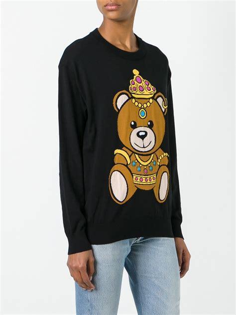 Moschino Teddy Sweater moschino teddy sweater lyst