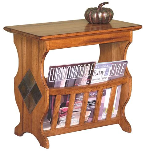 end table with magazine rack market square morris home magazine table with slate tile
