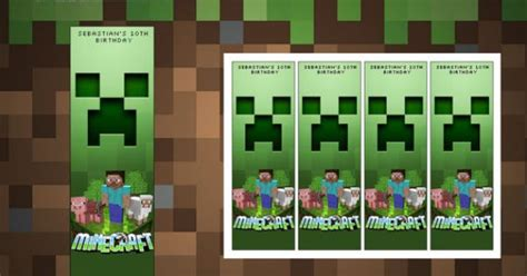 minecraft printable bookmarks minecraft birthday party