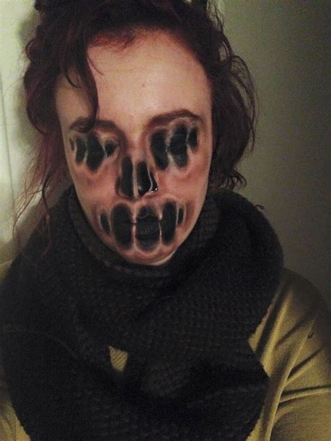 i use face paint to turn myself into dark or strange