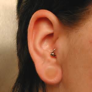 flesh colored plugs hider for stretched ear lobe