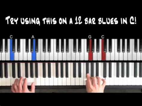 tutorial piano blues easy blues piano lessons bluesy 4ths riff part 3 youtube