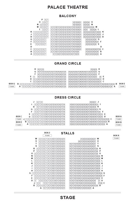 rock house seating chart palace theatre seating plan