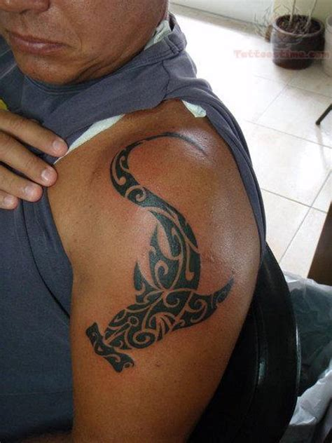 hammerhead tattoo 61 tribal shoulder tattoos