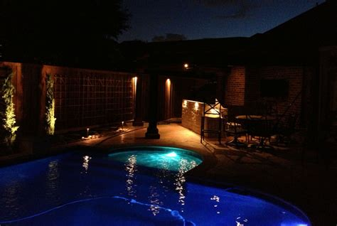 Landscape Lighting Dallas Pictures Outdoor Patio Electrical Dallas Landscape Lighting