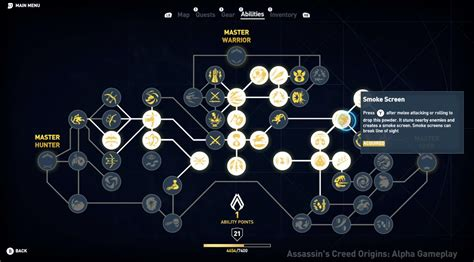 tree origins e3 2017 see the skill tree in assassin s creed