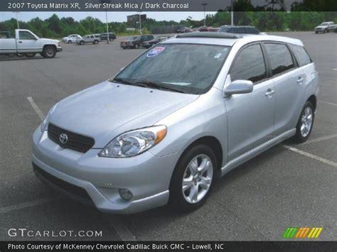 2007 Toyota Matrix Xr Silver Streak Mica 2007 Toyota Matrix Xr Charcoal