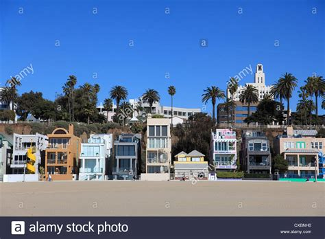 buy house in california usa beach houses santa monica los angeles california united states of stock photo
