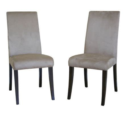 Zen Dining Room Chairs Zen Wenge Set Of 2 Dining Chairs H349647 Qvc