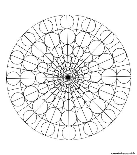 free mandala to color circles coloring pages printable