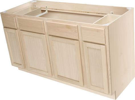 menards kitchen cabinets unfinished quality one 60 quot x 34 1 2 quot unfinished premium oak sink