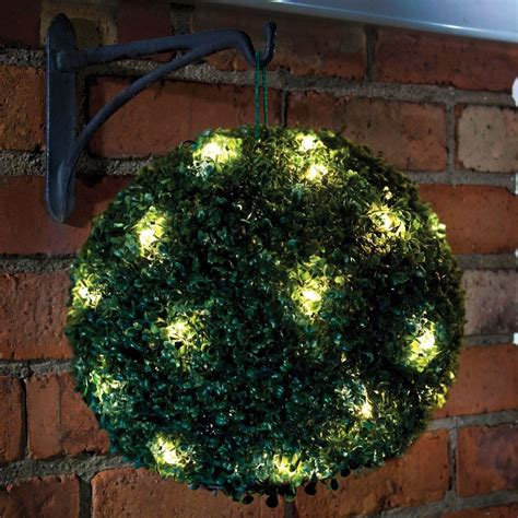artificial topiary balls with solar lights new 20 led 28cm solar flower rose topiary hanging garden