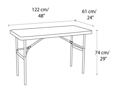Ivaro Indachi Folding Table Ft 02 lifetime folding tables 2959 4 foot almond top 20 pack