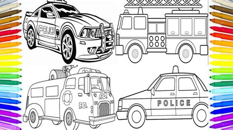 car truck coloring book painting learning colors how to paint cars for