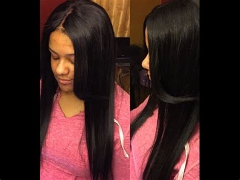 sewi in tutorials with leave out tutorial lace closure sew in no hair left out no glue