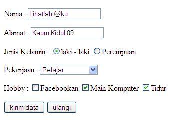 membuat form artikel membuat form sederhana dan menarik pada html lihatlah ku