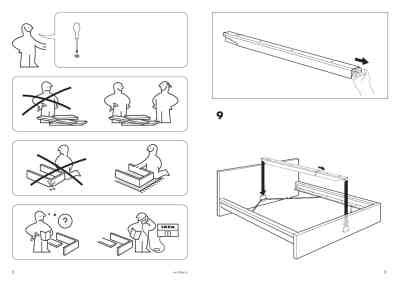 malm bed frame instructions ikea malm bed frame king furniture download user guide for