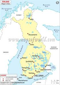 cities in finland finland cities map