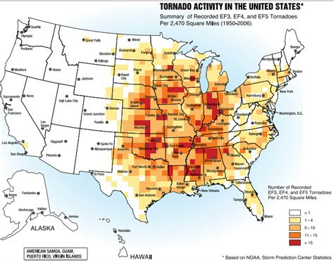 usa tornado map us tornado alley maps show the tornado risk regions in the