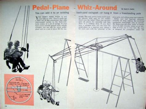 pipe swing set plans how to build pedal airplane w prop swing set or mount on
