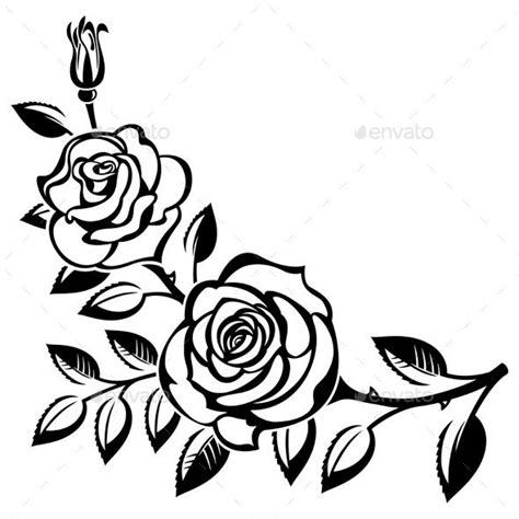 white flower clipart rose plant pencil and in color