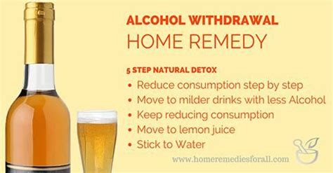 Detox Alcool by Home Remedies For Withdrawal Detox