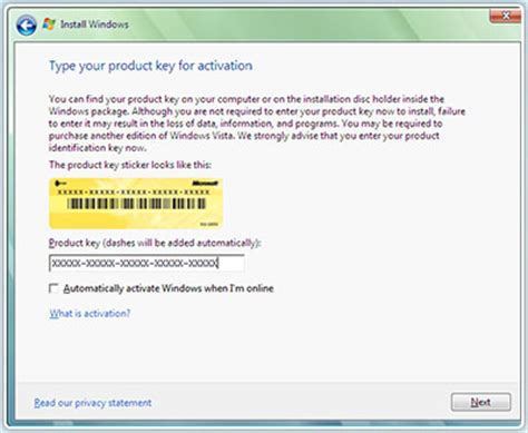 changing windows vista product key