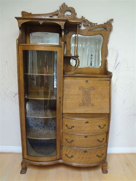 secretary desk with bookcase 47 best images about oak secretary on pinterest glass