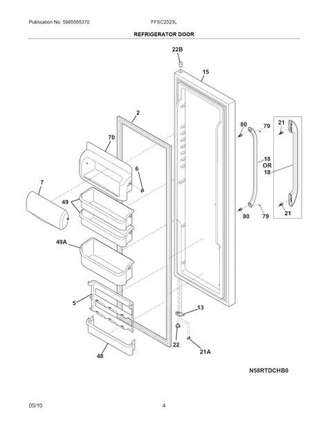 frigidaire gallery refrigerator parts diagram frigidaire refrigerator parts pictures to pin on