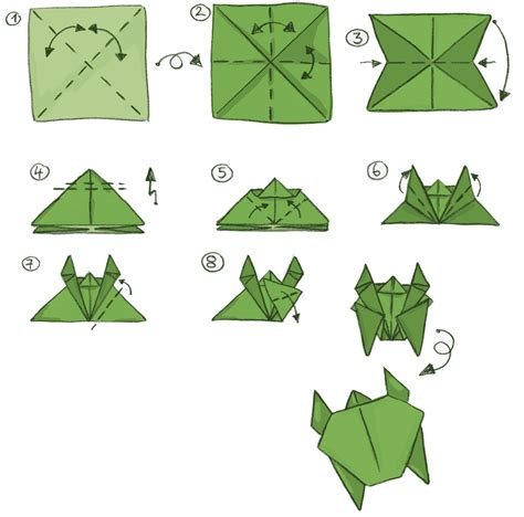 How To Fold Origami Turtle - to fold a turtle origami