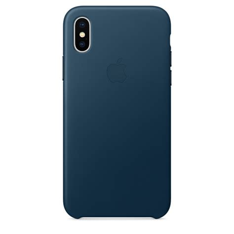 Iphone X Leather Midnight Blue Original Hardcase Soft Kulit Apple iphone x leather cosmos blue education apple