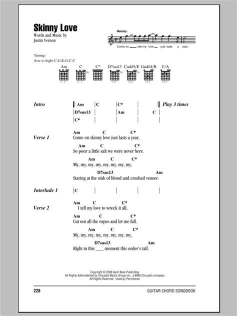 ukulele tutorial skinny love skinny love by bon iver guitar chords lyrics guitar