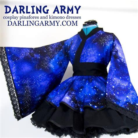 Waloli Harajuku Yukata space galaxy kimono dress wa accessory