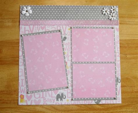 scrapbook layout ideas for baby girl baby girl premade scrapbook page 12 x 12 one by