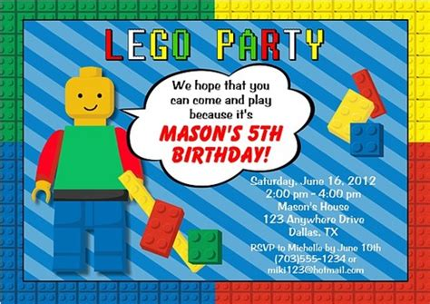 lego birthday card template free lego themed birthday invitations template