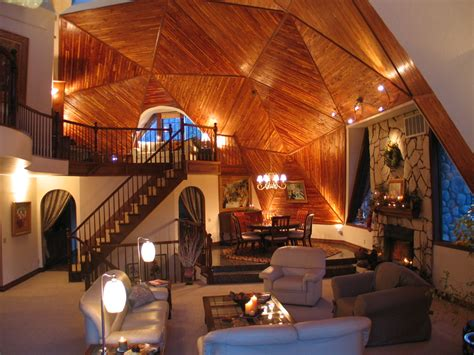 Geodesic Dome Home Interior | dome home home interiors eating house s dome house