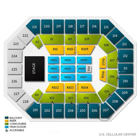 us cellular seating us cellular center seating chart us cellular center