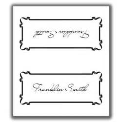 sided place card template place card template 5