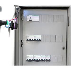 armoire pied de grue avec coffret de comptage distribution